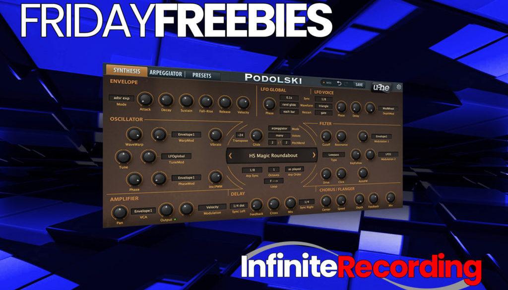 Infinite Recording Friday Freebie Plugin- u-he Podolski Virtual Synth